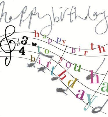Happy Birthday Music Clipart.