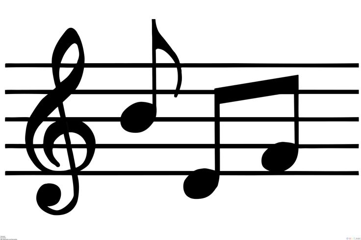 Musical note clip art happy birthday music notes image.