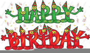 Happy Birthday Music Notes Clipart.