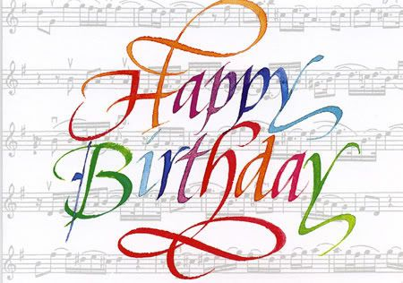 Happy Birthday Musical Notes Clipart.