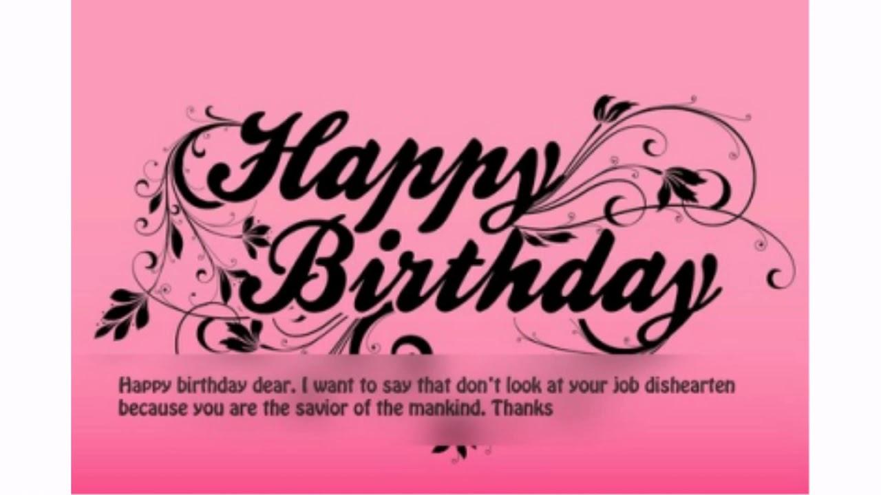 30 Happy Birthday Nurse Wishes.