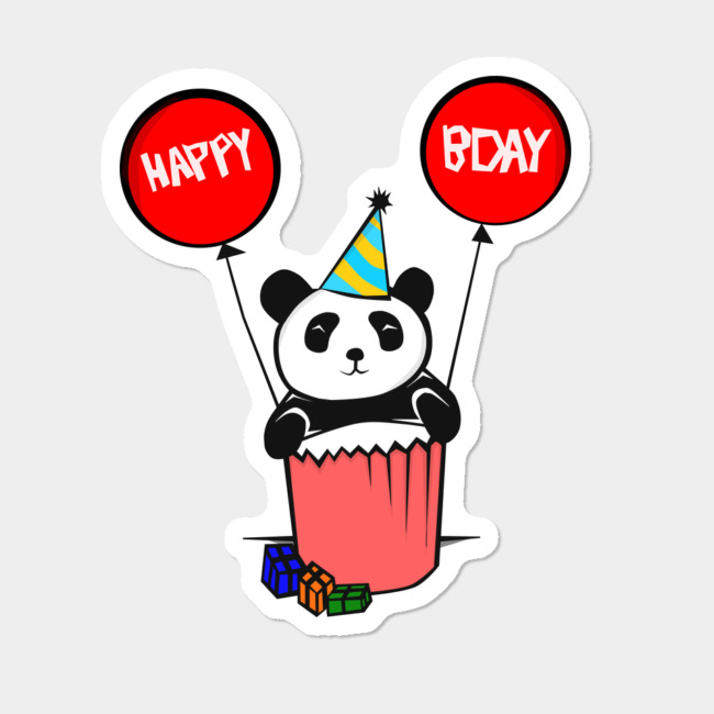 Happy Birthday Panda Sticker By HeySayG Design By Humans.