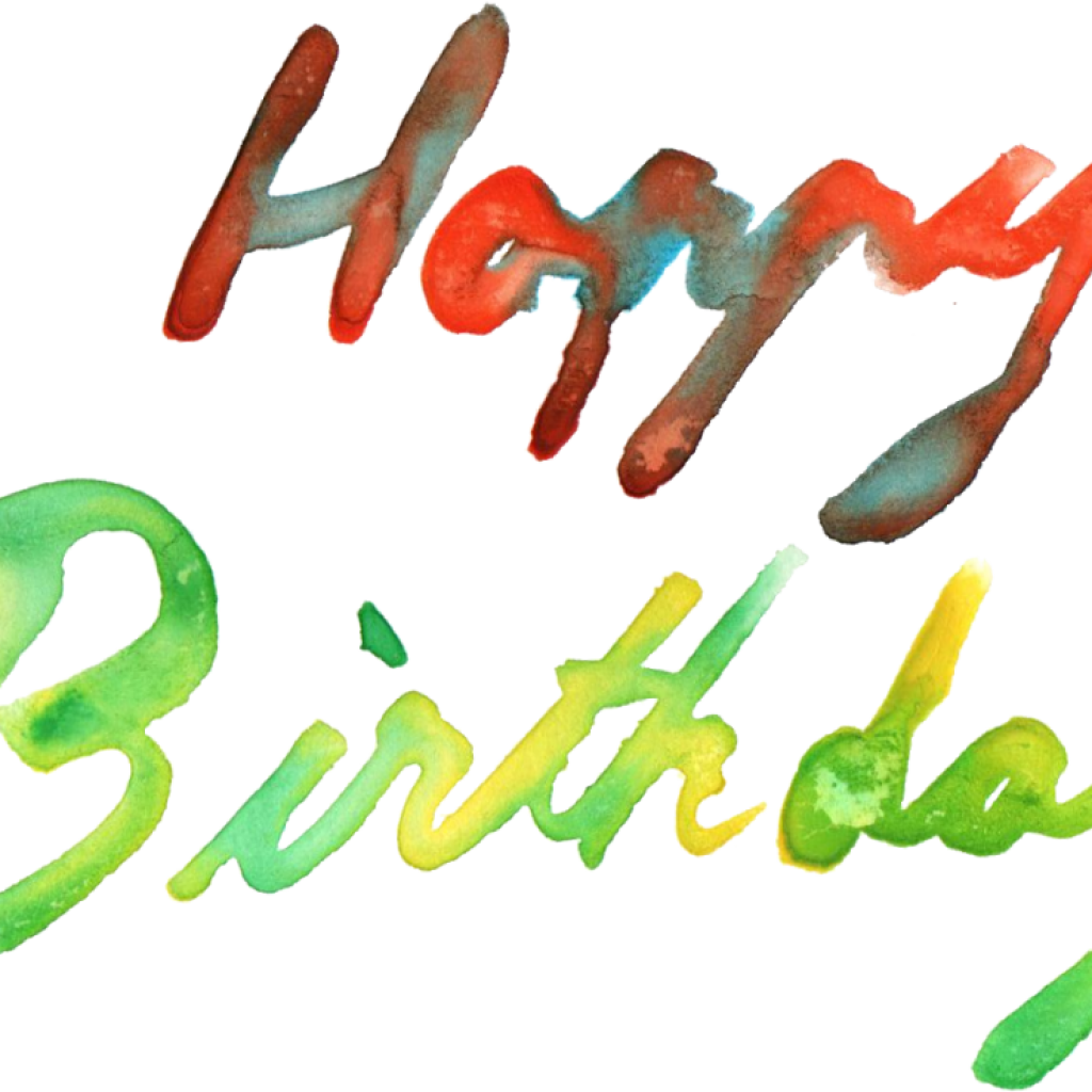Birthday Png 5 Happy Birthday Watercolor Png Transparent.