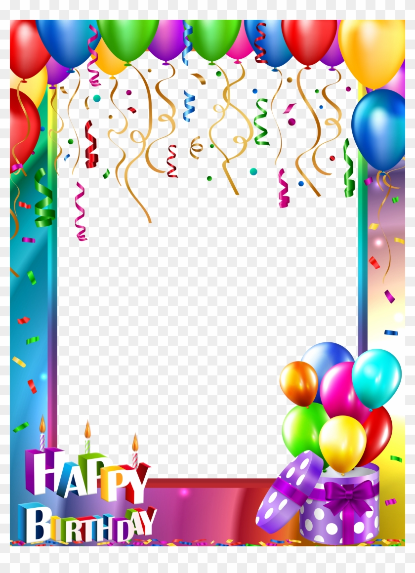 Happy Birthday Png Transparent Frame.