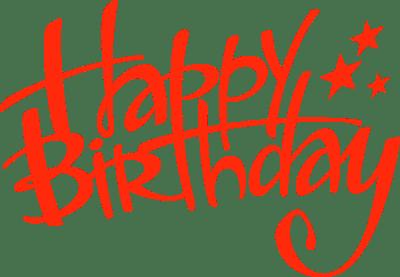 Happy Birthday Handwritten transparent PNG.