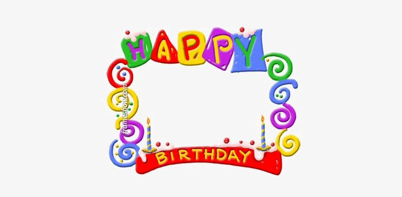 Colorful Happy Birthday Png Background Image.