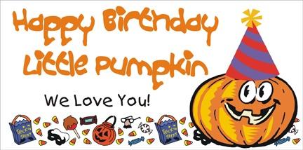 Birthday Pumpkin Banner, personalized.
