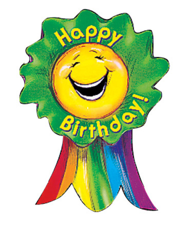 Creative Teaching Press Happy Birthday Smiling Ribbon Rewards, Pack of 36.