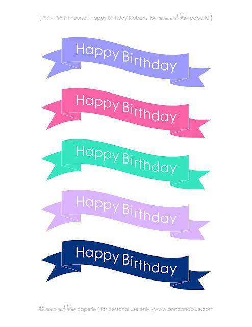Free happy birthday ribbons.