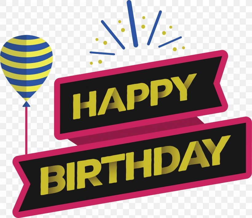 Happy Birthday To You Ribbon Wish, PNG, 3544x3068px.