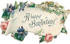 Happy Birthday Roses Clipart.