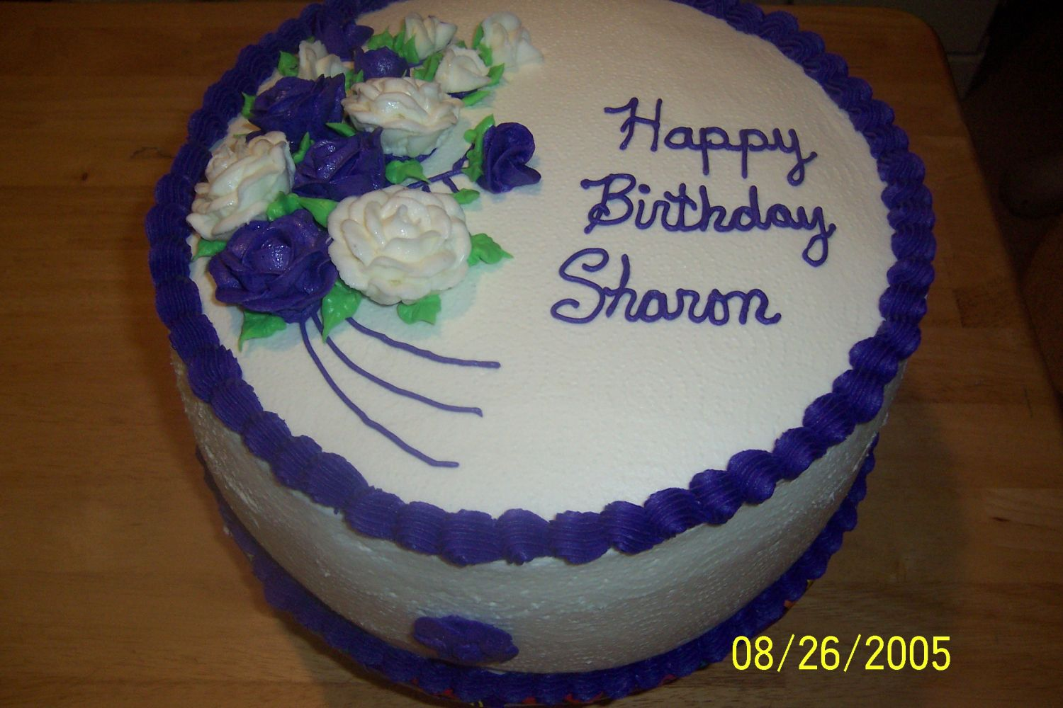 birthday cake sharon.