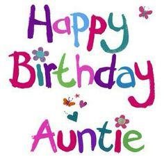 Happy Birthday Aunt Clip Art.