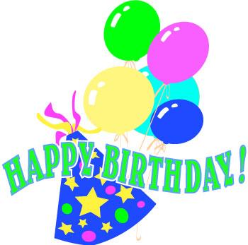 Happy Birthday Wishes Clip Art.