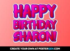 Showing post & media for Cartoon happy birthday sharron.