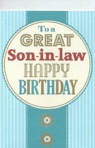 Happy Birthday Son In Law Clipart.