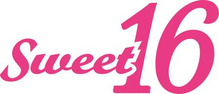 sweet 16 clipart.