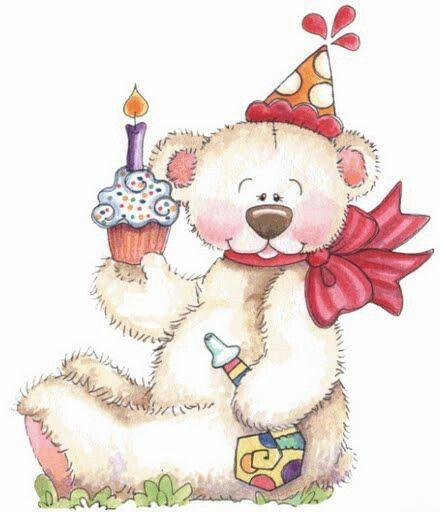Happy Birthday Teddy Bear Clipart Clipground