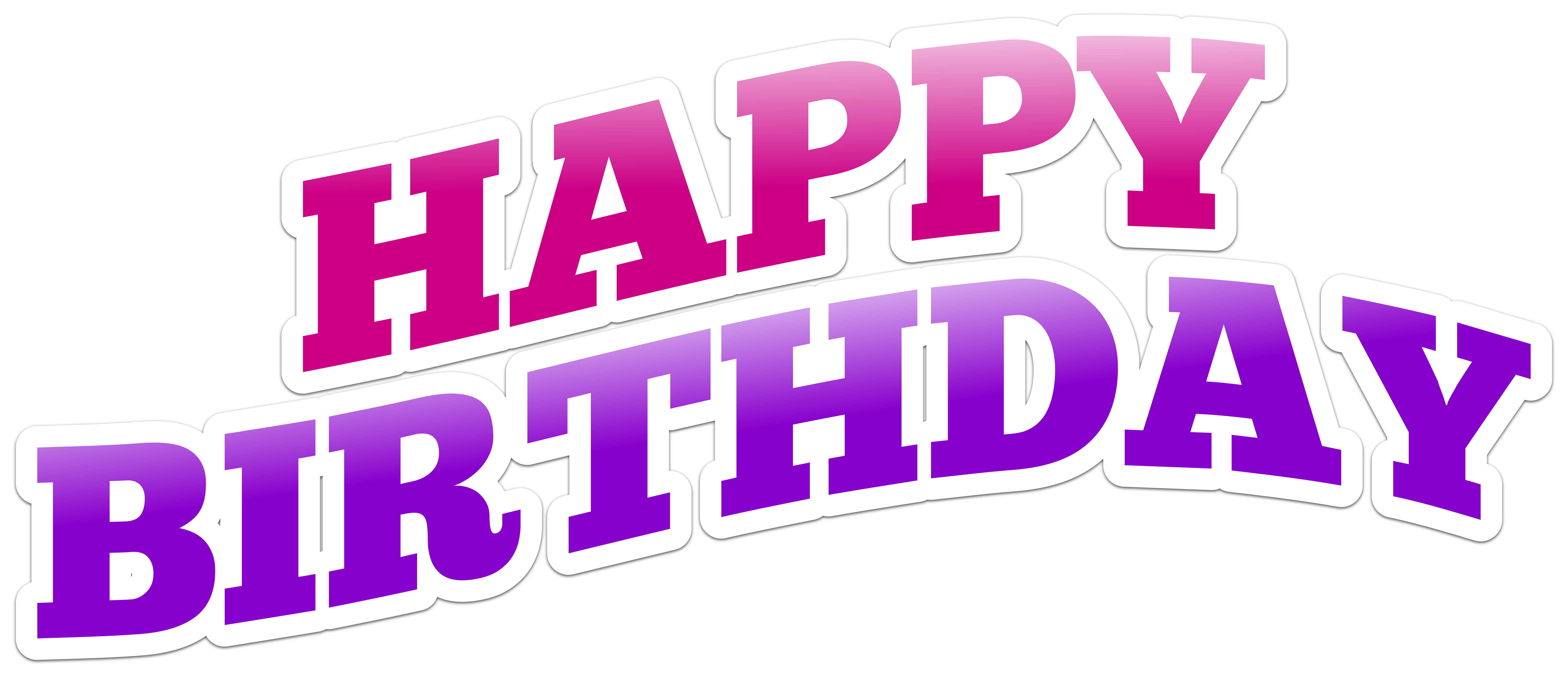 Happy Birthday Text PNG Clip Art Image.