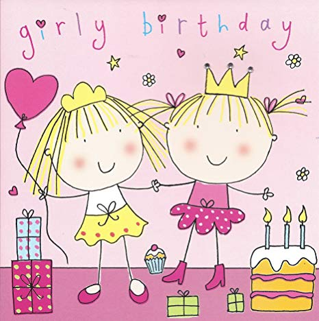 Twizler Happy Birthday Card for Girl.