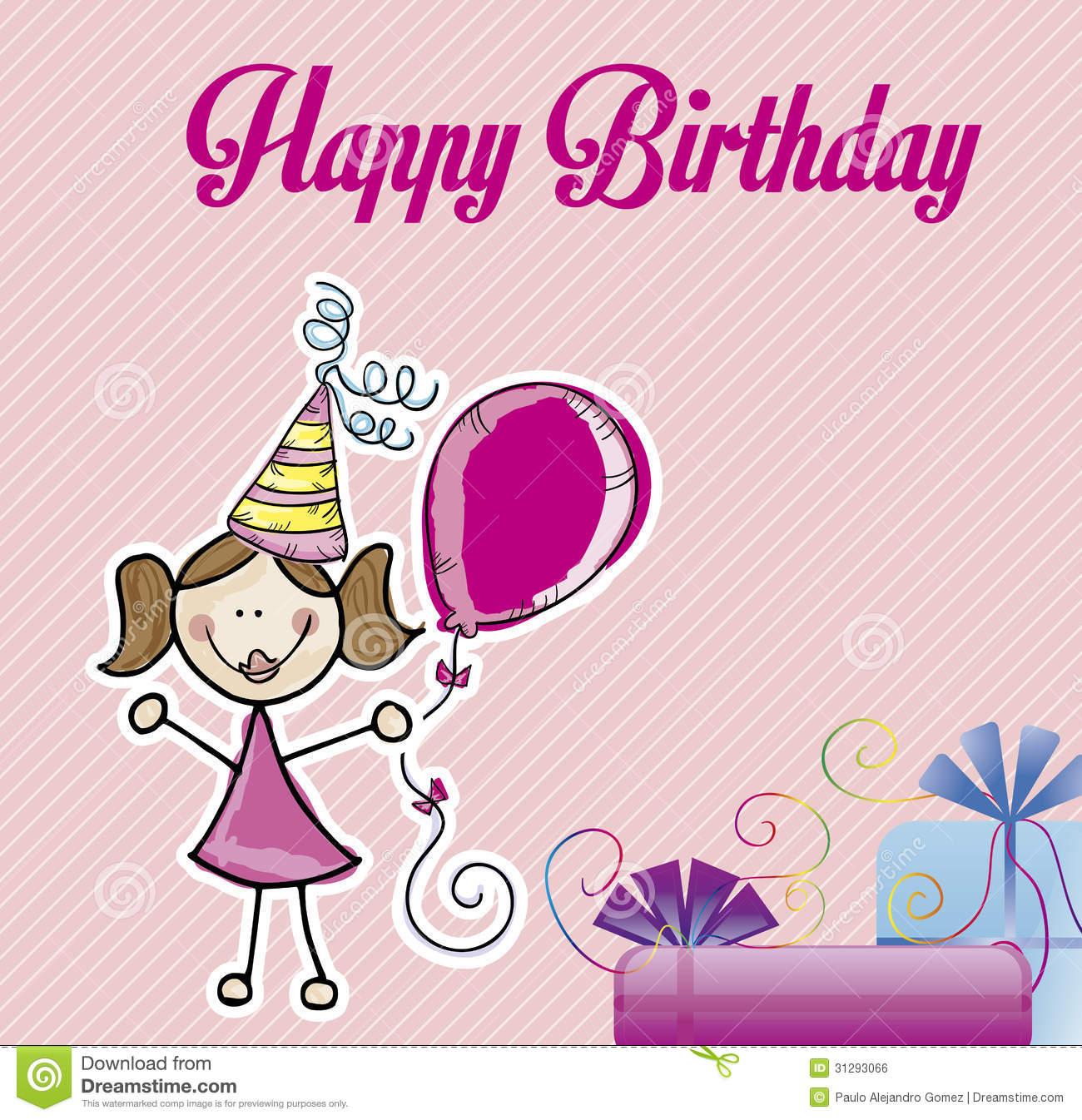 Happy Birthday Girl Royalty Free Stock Image.