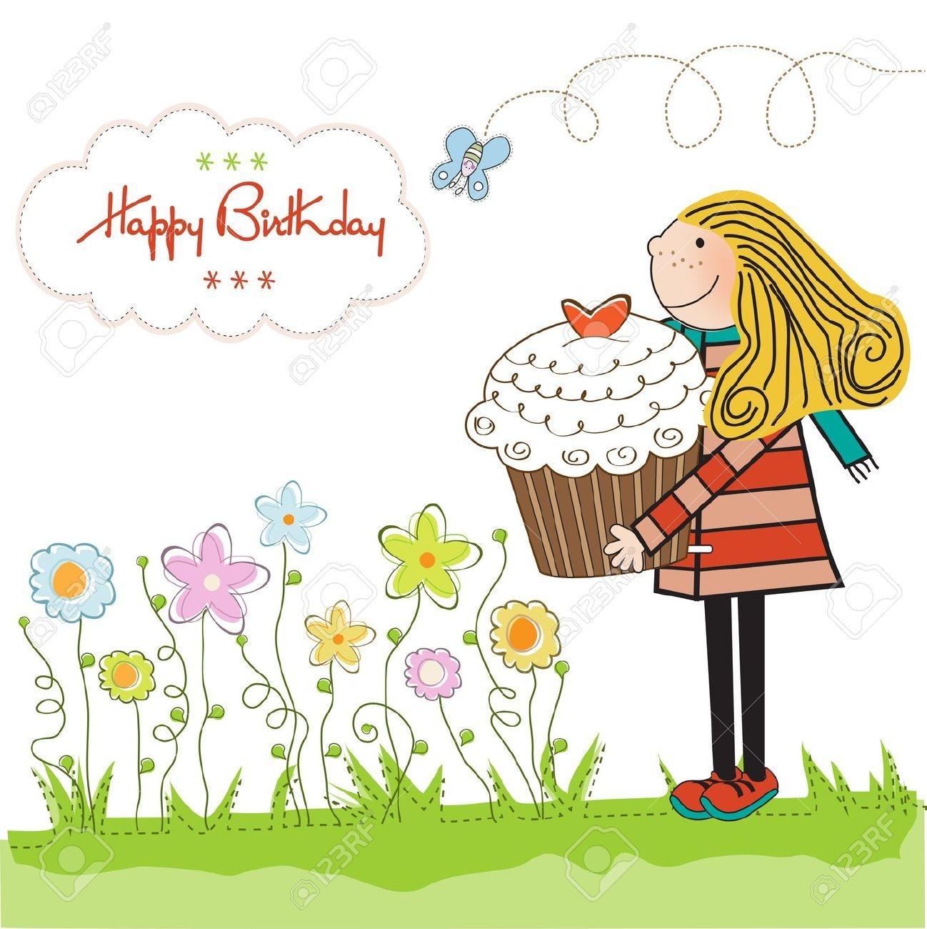 Happy Birthday Woman Clipart.