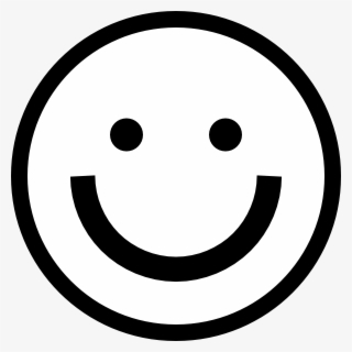 Free Happy Face Black And White Clip Art with No Background.