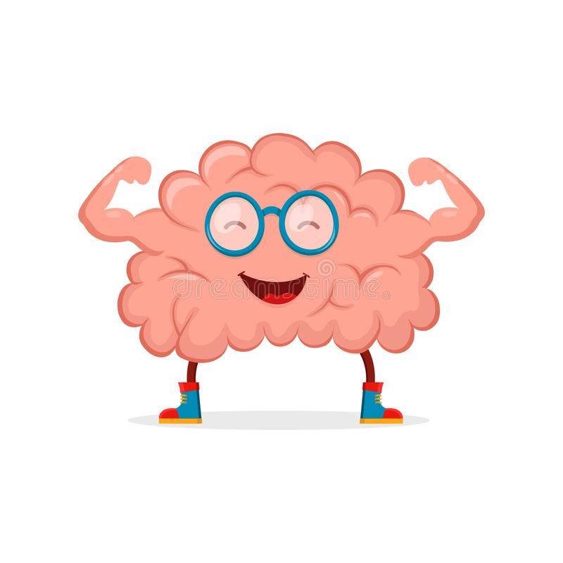 Happy Brain Stock Illustrations.