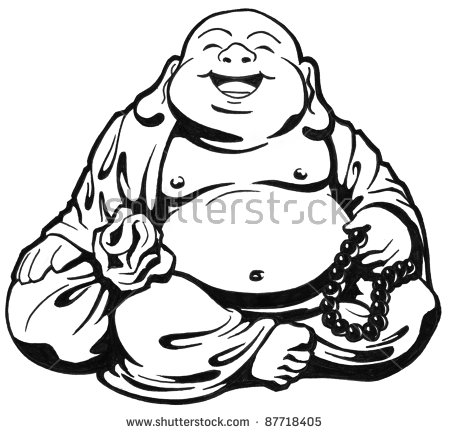 Laughing Buddha Illustration.