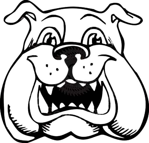 Happy Bulldog Clipart.