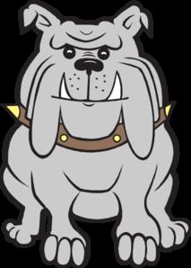 Happy Gray Bulldog Clip Art at Clker.com.