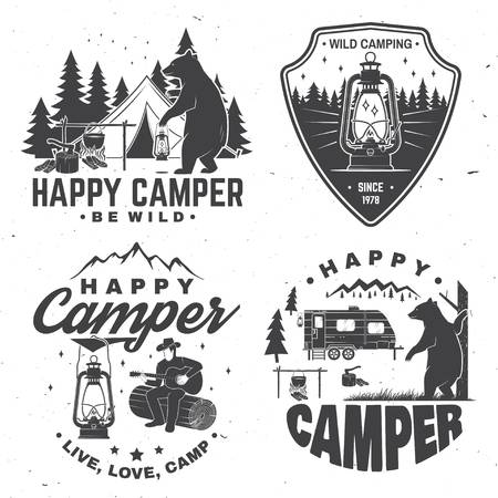 955 Happy Camper Stock Illustrations, Cliparts And Royalty Free.