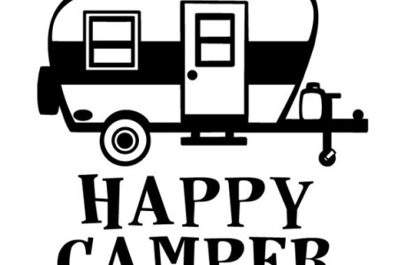 Happy camper clipart black and white 5 » Clipart Station.