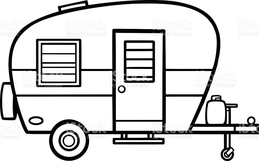 Image result for camper line art.
