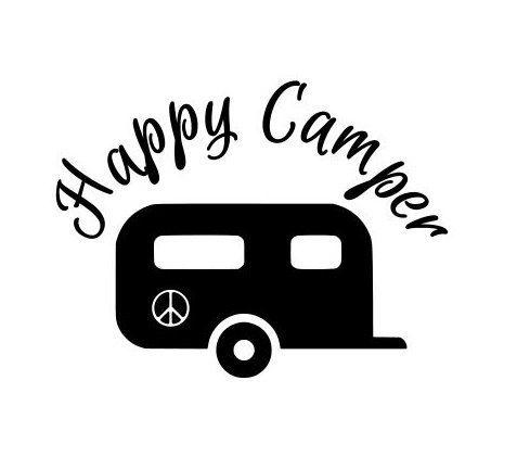Happy Camper Vinyl Decals Stickers Camping by ScrapShackMetal.