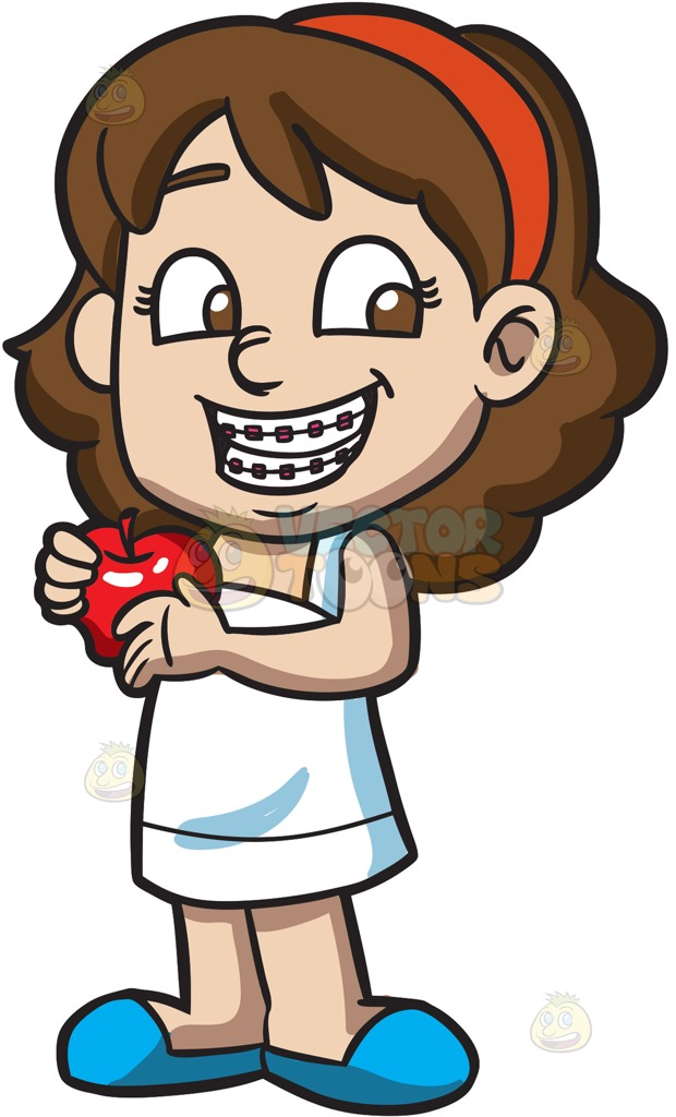 1064 Happy Girl free clipart.