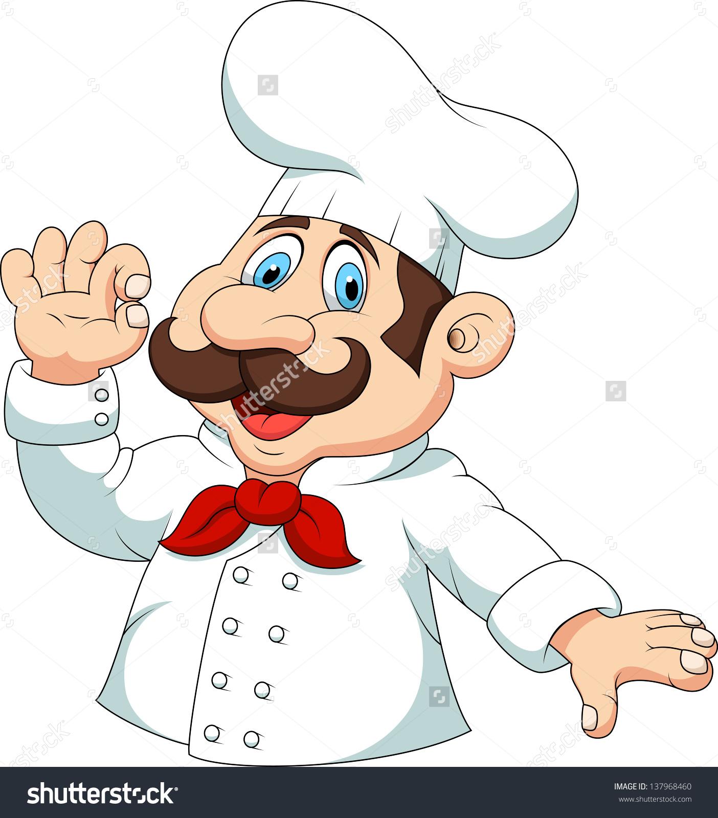 Happy Chef Cartoon Ok Sign Stock Vector 137968460.