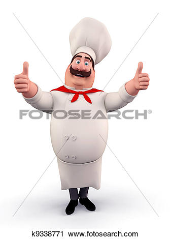 Clipart of Happy chef with best luck k9338771.