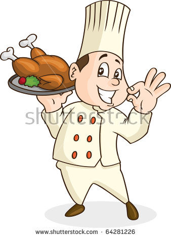Caricature Chef Smiling Stock Images, Royalty.