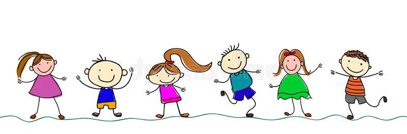 Happy Kids Stock Illustrations.