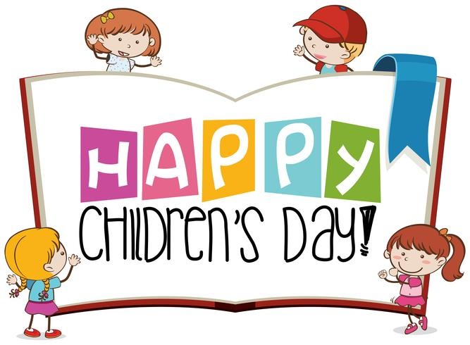 Happy childrens day scene.