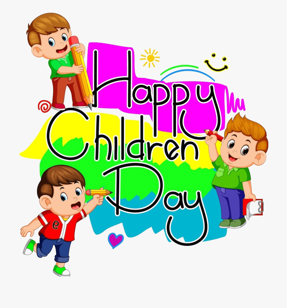 Happy Childrens Day , Transparent Cartoon, Free Cliparts.