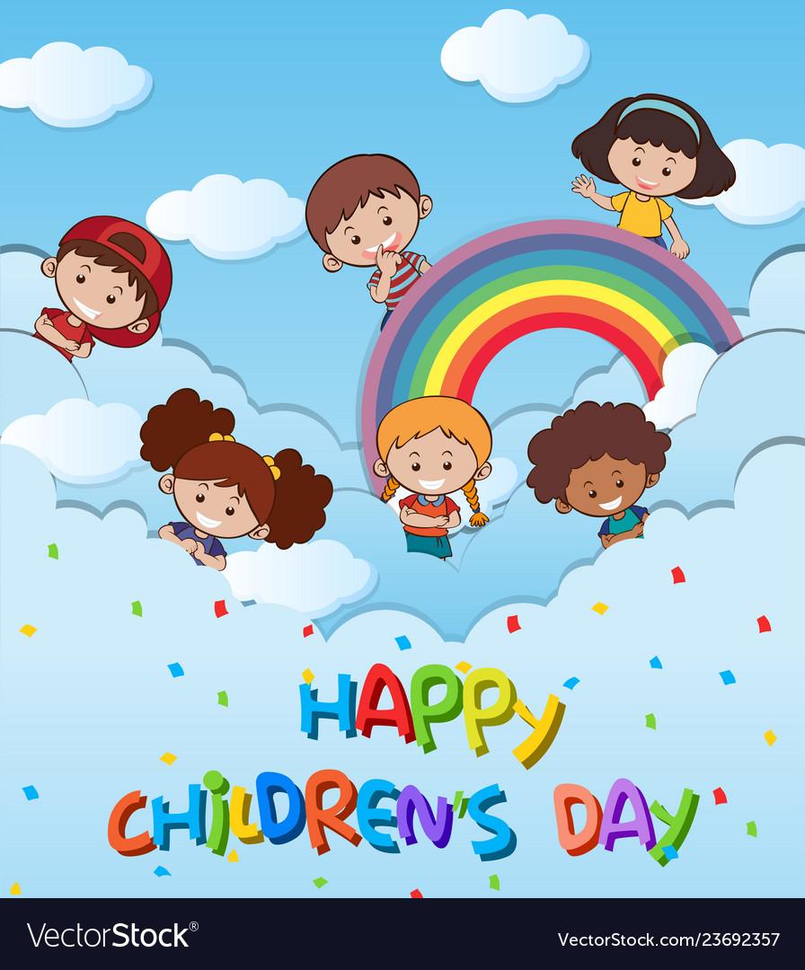 Happy childrens day template.