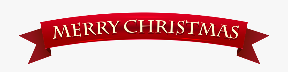 Clip Library Banner Merry Christmas Transparent Clip.