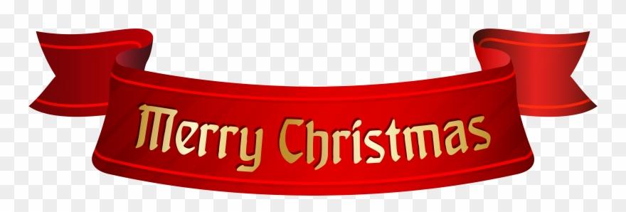 Merry Christmas Banner Transparent Clipart (#93792).