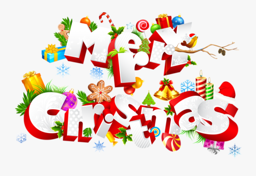 Transparent Merry Christmas Text Png.