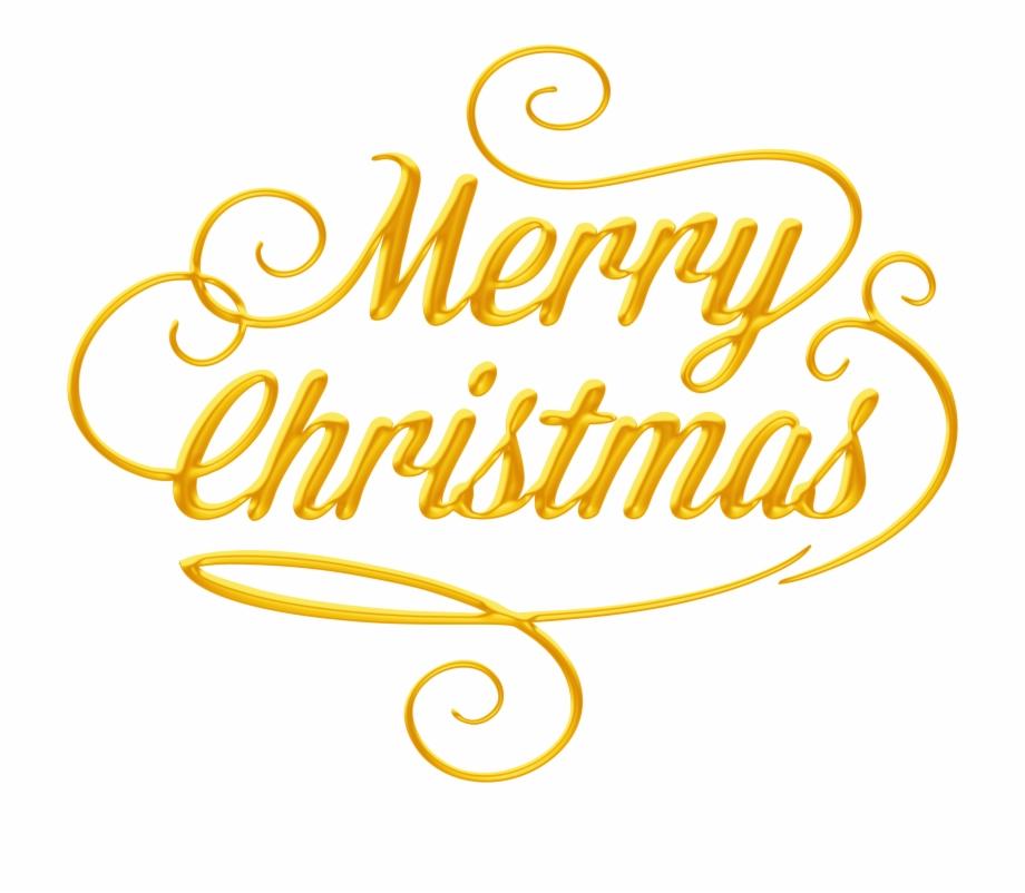Merry Christmas Text Transparent Png Clip Art.