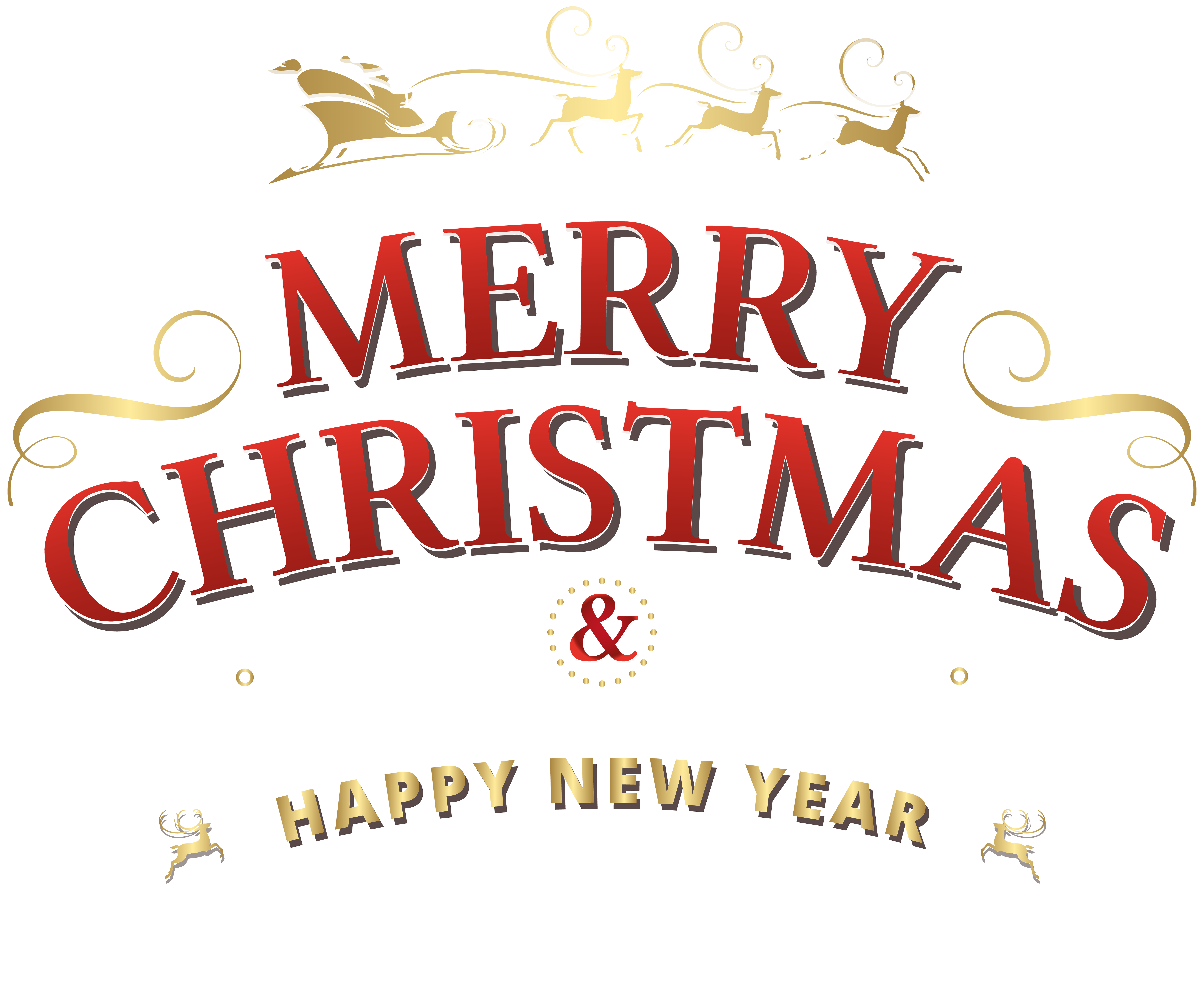 Merry Christmas Text PNG Clip Art.