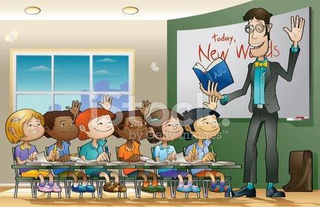 Happy Classroom Clipart Image.