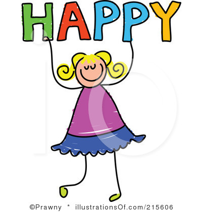 Happy Clip Art Black And White.